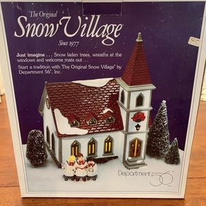 Original Snow Village Shady Oak Church